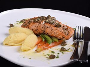 Pan Fried Norwegian Salmon with Lemon Butter Sauce