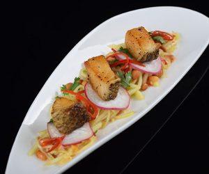 Thai Mango Salad with Sea Bass